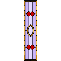 Modern stained glass door panel design