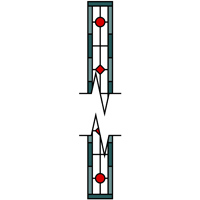Stained glass panel that can be made as long as required