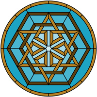 Celtic knot round panel pattern