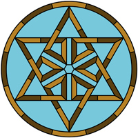 Star Celtic knot round panel