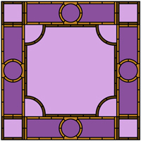 Celtic style stained glass frame border design
