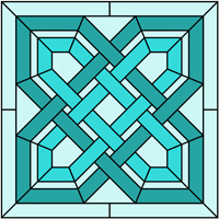 Square panel Celtic stained glass