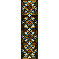 Intricate Celtic design stained glass door